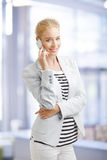 Businesswoman with mobile phone Royalty Free Stock Photo