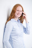Businesswoman on a Mobile Phone Royalty Free Stock Photography