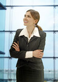 Businesswoman in the modern office Royalty Free Stock Photography