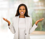 Businesswoman in modern office Royalty Free Stock Photo