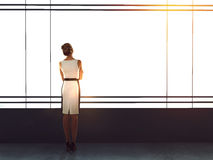 Businesswoman in modern office Royalty Free Stock Image