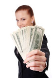 Businesswoman with money Stock Photo