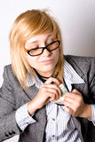 Businesswoman with money Royalty Free Stock Photography