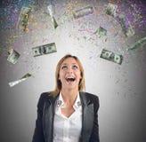Businesswoman money Royalty Free Stock Photo