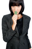 Businesswoman with Money Symbol Royalty Free Stock Images