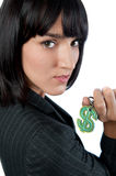 Businesswoman with Money Symbol Stock Photo