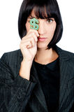 Businesswoman with Money Symbol Royalty Free Stock Photo