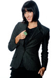 Businesswoman with Money Symbol Stock Images