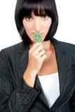 Businesswoman with Money Symbol Stock Photo