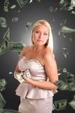 Businesswoman with money Stock Photo