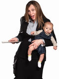 Businesswoman and Mother Royalty Free Stock Photography