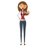 Businesswoman motivation flat cartoon vector illustration. Eps10. Isolated on a white background. Vector Stock Photos