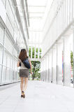 Businesswoman on the move Stock Images