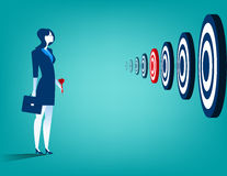 Businesswoman and multiple targets Stock Images
