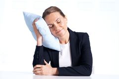 Businesswoman napping Royalty Free Stock Images
