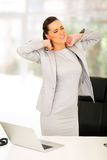 Businesswoman neck pain Royalty Free Stock Photography