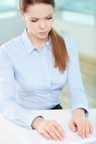 Businesswoman networking Stock Photo