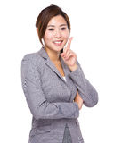 Businesswoman with an new idea Stock Image