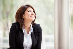 Businesswoman with a new idea Royalty Free Stock Image
