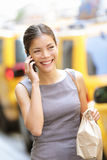 Businesswoman in New York City stock images