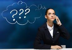 businesswoman niepokojące Zdjęcie Stock