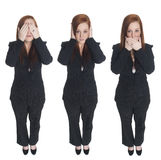 Businesswoman - no evil Stock Images