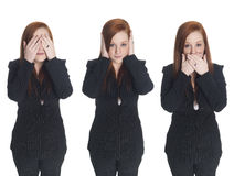 Businesswoman - no evil Stock Photos