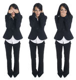 Businesswoman - no evil Stock Photography