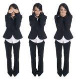 Businesswoman - no evil stock photography