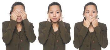 Businesswoman - no evil Stock Photos