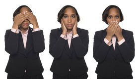 Businesswoman - No Evil Stock Image