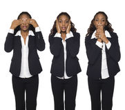 Businesswoman - No Evil Royalty Free Stock Photography