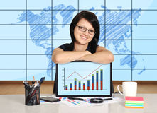 Businesswoman with note pad Royalty Free Stock Photos