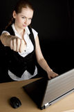 Businesswoman with a notebook Stock Photography