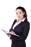 Businesswoman with notebook Stock Images