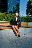 Businesswoman with notebook Stock Photography