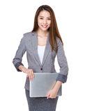 Businesswoman with notebook Royalty Free Stock Images