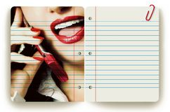 Businesswoman and notepad Royalty Free Stock Photos