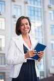 Businesswoman with notepad Royalty Free Stock Images