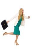 businesswoman odizolowane Zdjęcia Royalty Free