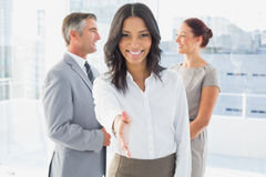 Businesswoman offering a friendly handshake Stock Photo