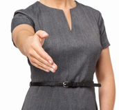 Businesswoman Offering Handshake Royalty Free Stock Photography