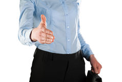 Businesswoman offering handshake to you Royalty Free Stock Photo