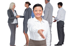 Businesswoman offering handshake Royalty Free Stock Photos