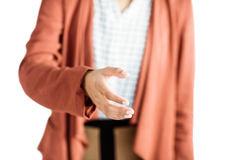 Businesswoman offering a handshake Stock Image