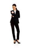 Businesswoman offering teamwork Stock Image