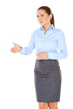 Businesswoman offering to shake hands Royalty Free Stock Image