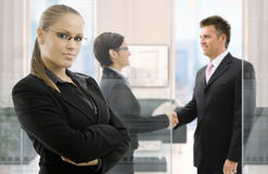 Businesswoman in office Royalty Free Stock Photos