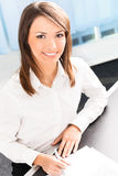 Businesswoman at office Royalty Free Stock Photography