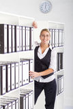 businesswoman in office Stock Photos